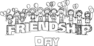 Happy Friendship Day Images For My Beautiful Friends Coloring Page