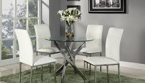 Sets Round Chairs Two Chrome Dining Clearance Extendable Rovigo Room Table Square Top And Giardino Small