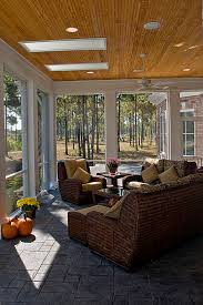 Sunroom Furniture Porch Traditional With Patio Ceiling Lighting