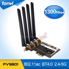 pc bureau wifi fenvi fv9801 de bureau pc 802 11ac wifi 1750 mbps gigabit ethernet