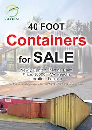 104 40 Foot Containers For Sale Global Fiji High Cubic Container Facebook