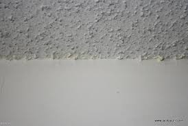 how to painting clean up popcorn ceiling lines