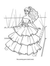 Barbie Fashion Coloring Pages 44 Kids Printables