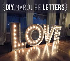 diy wood metal marquee letters weddingbee