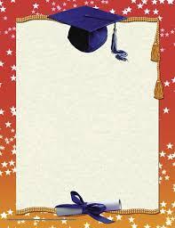 Graduation Cap Paper Border