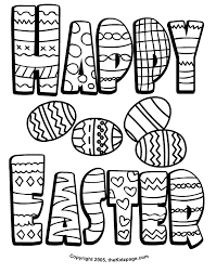 Free Printable Easter Happy Coloring Pages