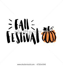 "Inscription ""Fall Festival"" with stylized pumpkin The inscription hand drawing of black"