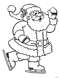 Santa Coloring Page Free Printable Claus Pages For Kids
