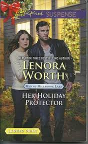 Her Holiday Protector Lenora Worth Men Millbrook Lake Love Inspired LP Suspense