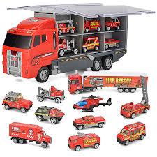 100 Girls On Trucks Amazoncom JOYIN 10 In 1 Diecast Fire Engine Vehicle Mini Rescue