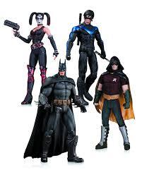 Long Halloween Batman Figure by Amazon Com Arkham City Harley Quinn Batman Nightwing U0026 Robin