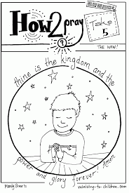 Thine Is The Kingdom Coloring Page