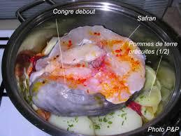 cuisiner du congre popote papote congre debout vapeur