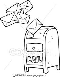 Vector Stock Black And White Cartoon Mail Box Clipart Rh Gograph Com Mailbox