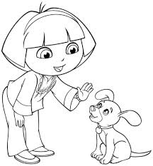 Dora Coloring Pages Games The Explorer Archives Free Gallery Ideas