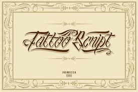 50 Epic Tattoo Fonts
