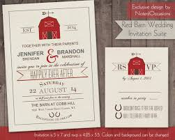 Printable Barn Wedding Invitation Rustic By NotedOccasions