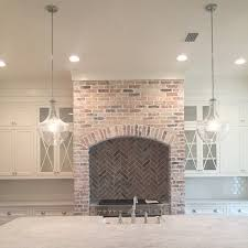 Old Chicago Brick With Mortar Fireplace Style Range Hood In Pure White Lightly Wiped Off