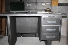 bureau industriel metal bureau en metal simple le de bureau articule en mtal cuivr