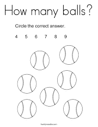 How Many Balls Coloring Page