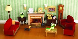Sylvanian Families Living Room Luxury Set Com On Log Furniture