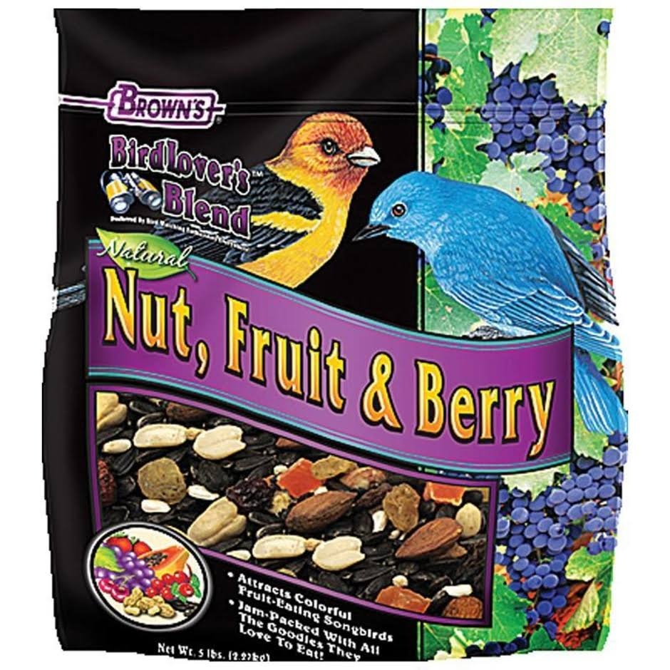 FM Browns Bird Lovers Blend Fruit Nut and Berry Bird Food - 5lbs