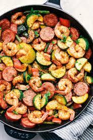 cuisine cajun skillet cuisine cajun shrimp and sausage vegetable skillet recipe