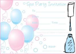Spa Party Invitations Printable Ideas
