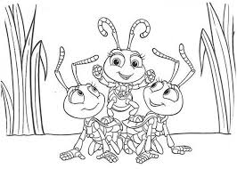 Bugs Life Little Princess Atta Play With Other Ants In Coloring Pages