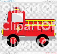 100 Black Fire Truck RoyaltyFree RF Clipart Illustration Of A Red With A