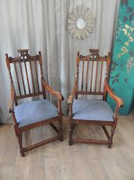 Pair Of Victorian Gothic Jacobean Style Oak Armchairs | In Streatham ... Gothic Revival Oak Glastonbury Chair Sale Number 2663b Lot Antique Carved Walnut Throne Arm Bucks County Estate Truly Stunning Medieval Italian Stylethrone Scissor X Large Victorian A Pair Of Adjustable Recling Oak Library Chairs Wick Tracery Cathedral My Parlor Room Purple Reproduction Shop Pair Jacobean Style Armchairs In Streatham Charcoal Gray Painted Rocking By Just The Woods Wicker Seat Side At