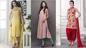 Pakistani Simple Dresses Shalwar Kameez Pajama Designs 2017