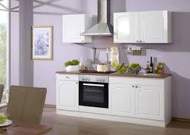 küche 210 cm mit elektrogeräten in weiß