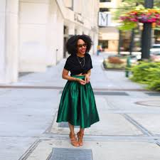 midi skirt green dress ala