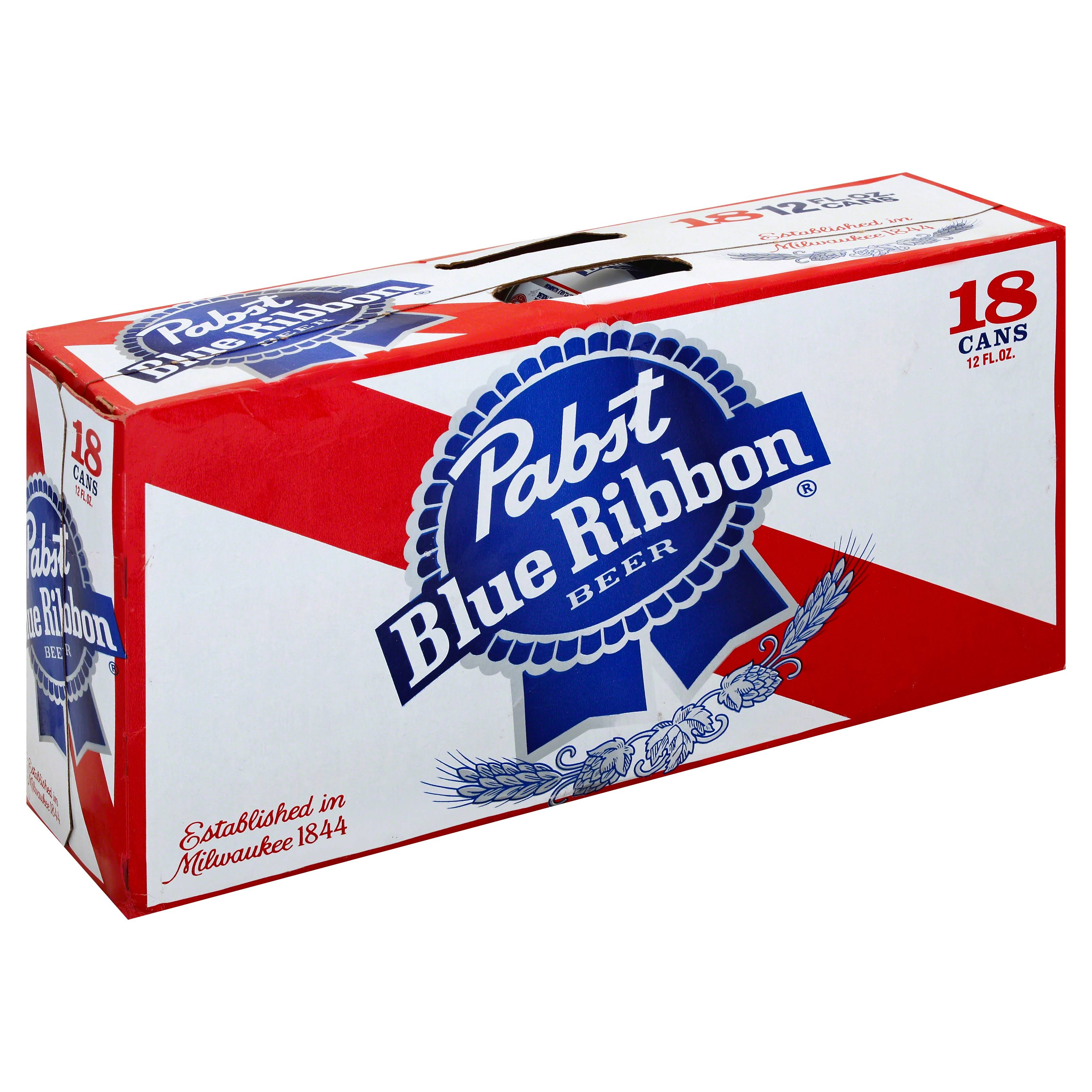 Pabst Blue Ribbon Beer - 18x12Oz