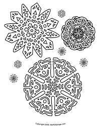 Snowflakes Free Coloring Pages For Kids