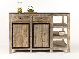 meuble ilot cuisine ilot central de cuisine en bois et marbre supreme soldes meuble