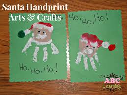 Santa Arts And Crafts For Preschoolers Handprint Kids On Christmas Fingerprint