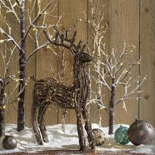 Decorating Ideas 24 Flocked Lit Tree Battery Operated Rustic Holiday 002453 Christmas Decoration