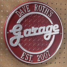 Cast Metal Garage Sign