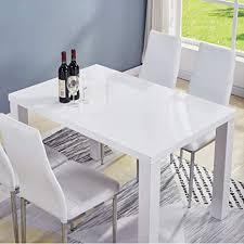 goldfan esstisch holz weiß moderner 110cm rechteckiger