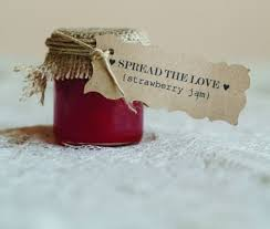 Spread The Love Jam Wedding Favour Sweet Treat For Guests To Take