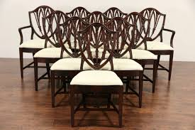 Set Of 10 Shield Back 1940 Vintage Mahogany Dining Chairs, New Upholstery 50 Ice Cream Parlor Chairs Youll Love In 20 Visual Hunt Thonet 1940s Style Art Deco Piano Stool Bentwood Bistro Mahogany Ding Room Table Portaldofutebol Ding Room Ensemble By Paul Frankl Usa Osvaldo Borsani Borsani Chairs Set From 1940 Antique Fniture Image And Cox Chair Set Of Eight Other Quanties Available Childrens Wooden School Desk With Inkwell For Free Fniture Vintage Fph1 Hornsteinco Cherry Grove