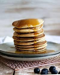 vegane pancakes mit apfelmus