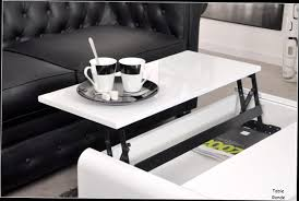 incroyable table basse relevable blanche 9 indogate table de
