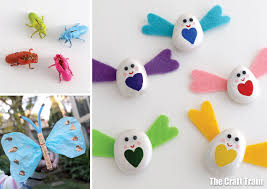 Colourful Bug And Butterfly Craft Ideas For Kids Make Some Pebble Felt Love Bugs