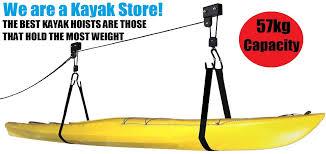 Kayak Ceiling Hoist Australia by Kayak Storage Hoist Lift Pulley System Ceiling Hook Garage 57kg