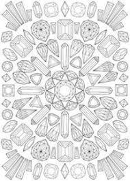 Graphic Mandala Coloring Page Mandalas
