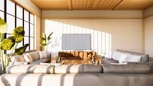 sofa und schrank im japanischen wohnzimmer auf weißem