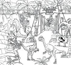 Jurassic Park Velociraptor Coloring Pages Dilophosaurus Sheets Page Dinosaurs Pictures